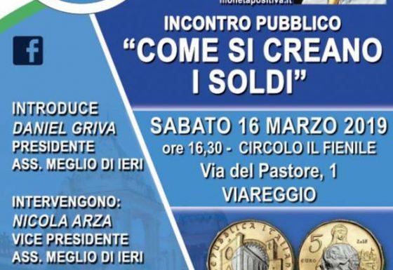 """Incontro Pubblico """"Come si Creano i Soldi """" – Relatore Fabio Conditi"""